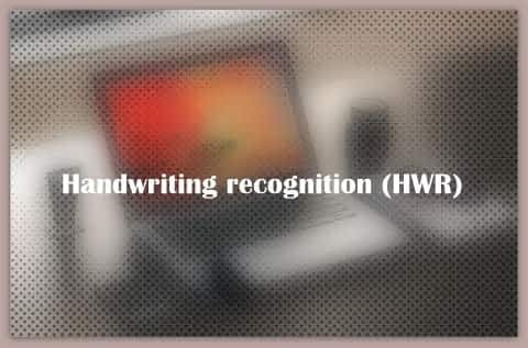 About Handwriting recognition