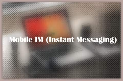 About Mobile IM (Instant Messaging)