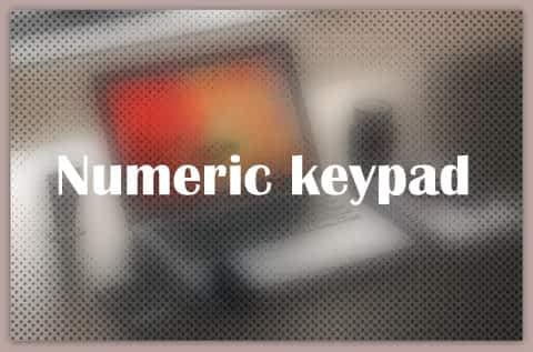 About Numeric keypad